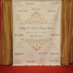 Gold Red Black Theme-Sweet 16 backdrop, Event step and repeat Backdrop, Birthday photo backdrop, Red Carpet Backdrop, Sweet 16 birthday 40th Birthday Themes, Birthday Dates, Sweet 16 Birthday, Birthday Photos, 16th Birthday, Banner Backdrop, Birthday Backdrop, Red Carpet Backdrop, Bridal Shower Tables