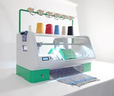 Kniterate is a digital knitting machine that allows individuals to design and 3D print their own unique garments using an app.