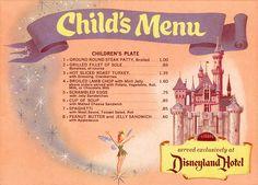 Disneyland Menu, Scrambled eggs with jelly sandwiches! Disneyland knew what was up Walt Disney, Disney Food, Disney Magic, Disney Pixar, Disney Recipes, Punk Disney, Disney Travel, Disneyland Hotel, Vintage Disneyland