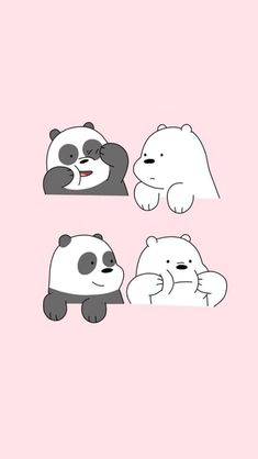 Find Your Favorite Cartoon Here We Bare Bears Wallpapers, Panda Wallpapers, Cute Cartoon Wallpapers, Cute Panda Wallpaper, Bear Wallpaper, Kawaii Wallpaper, Disney Phone Wallpaper, Cartoon Wallpaper Iphone, Cute Wallpaper Backgrounds