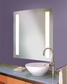 147 best lighting modern images rh pinterest com Bathroom Mirrors with Attached Lights Bathroom Built in Mirror with LED Lights