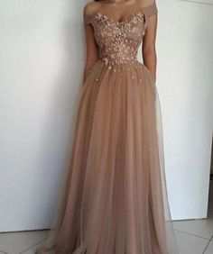 e2cd4d4016c New Off Shoulder Prom Dresses Appliques Pearls Floor Length Tulle Formal  Evening Occasion Dresses Party Gown Custom Made from Babybridal