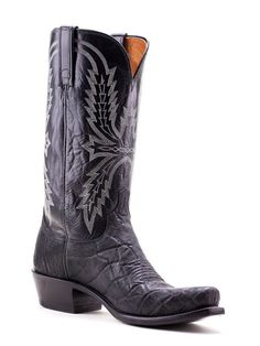 Mens Lucchese Black Elephant Boots N9577.74 - Texas Boot Company is located in Bastrop, Texas. www.texasbootcompany.com