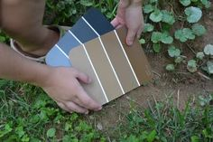 paint chip scavenger hunt for kids...now thats a cool idea!!