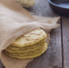 Warm and soft homemade grain free tortillas made with cauliflower.