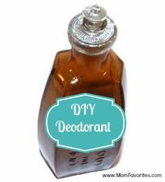DIY Deoderant - Mom Favorites  love this, gotta try!! It works
