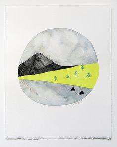 Under A Crescent Moon Original 8x10 by NatashaNewtonArt on Etsy