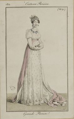 French and English fashion plates from 1812. All images come from the collection of the Bibliothèque des Arts Décoratifs. www.lesartsdecoratifs.fr/francais/bibliotheque/