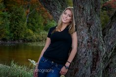 Nature in Muskoka makes a great backdrop for this girl's portait. by Bayshore Photography @Bayshore Photography