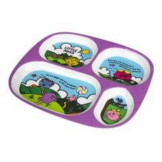 Mr Men Little Miss Melamine Kids Divider Plate