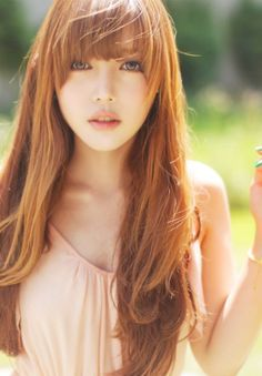 natural redhead park hye min