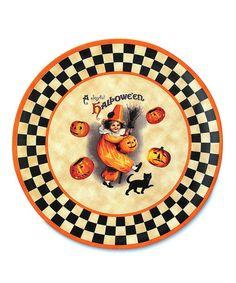 bethany lowe designs ceramic a joyful halloween platter - Halloween Plates Ceramic