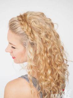 Pareja de pelo - 30 Curly peinados en 30 días - Día 27 - trenza diadema
