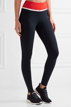 Tory Sport | Color-block stretch-Tactel leggings | NET-A-PORTER.COM