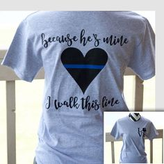Your place to buy and sell all things handmade - Wify Shirt - Ideas of Wify Shirt - Police Wife Shirt Thin Blue Line Police Officer Gifts Police Girlfriend, Police Officer Wife, Police Wife Life, Police Love, Blue Line Police, Leo Police, Law Enforcement Wife, Leo Wife, Police Shirts
