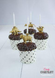 Świeczki urodzinowe - cake topper DIY. Ozdoba na tort i nie tylko