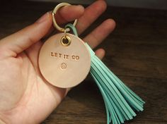 Personalized Leather tag Leather bagcharm Leather by AliceandBo