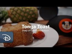 "When you read ""banana-stuffed sourdough bread, battered, deep-fried, and dusted with cinnamon-sugar"" you know what's coming – Tonga Toast! Currently served at Kona Café and Capt. Cook's, this decadent breakfast classic has been on the menu Disney Inspired Food, Disney Food, Disney Recipes, Disney Parks, Walt Disney, Breakfast Dishes, Breakfast For Kids, Breakfast Recipes, Breakfast Muffins"