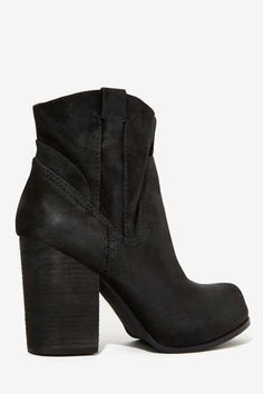 Jeffrey Campbell Showdown Suede Boot - Heels | Jeffrey Campbell | Moto Boots | All
