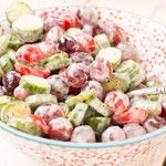 *(Tried It & Loved It) Cucumber Grape Salad with Strawberry Poppy Seed Dressing