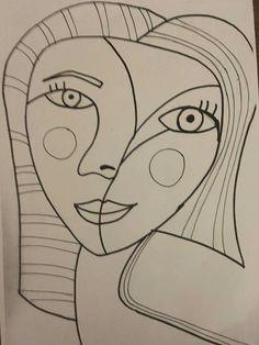 January Kunst Picasso, Picasso Drawing, Picasso Art, Portraits Cubistes, Portrait Art, January Art, Abstract Face Art, Art Plastique, Art Activities