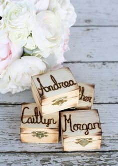 Rustic Personalized Bridesmaid Jewelry Boxes Engraved Gift Set Of 4 (item…