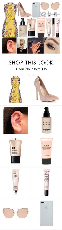 """""""Red Carpet"""" by susanna-trad ❤ liked on Polyvore featuring Mary Katrantzou, Anastasia Beverly Hills, Bobbi Brown Cosmetics, Charlotte Russe, Stila, NARS Cosmetics, Topshop and ETUÍ"""