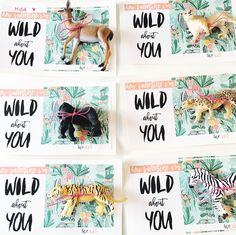 DIY kid animal valentine cards