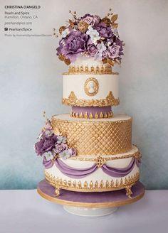 purple gold 4 - Quinceanera