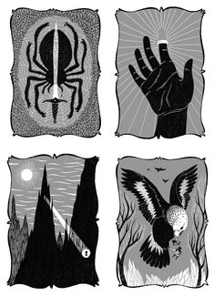 A beautiful set of chapter head illustrations by Jim Tierney for The Hobbit.