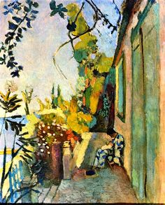 Henri Matisse - The Terrace of Paul Signac at Saint-Tropez. I think this is my very favorite Matisse painting ❁✦⊱❊⊰✦❁ ڿڰۣ❁ ℓα-ℓα-ℓα вσηηє νιє ♡༺✿༻♡·✳︎·❀‿ ❀♥❃ ~*~ TH Jun 2016 ✨вℓυє мσση ✤ॐ ✧⚜✧ ❦♥⭐♢∘❃♦♡❊ ~*~ нανє α ηι¢є ∂αу ❊ღ༺✿༻♡♥♫~*~ ♪ ♥✫❁✦⊱❊⊰✦❁ ஜℓvஜ Henri Matisse, Matisse Kunst, Matisse Art, Matisse Prints, Picasso, Paul Signac, Matisse Paintings, Art Paintings, Gardner Museum