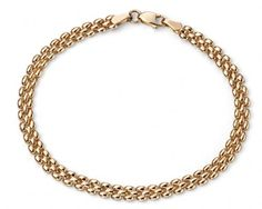 Elements Gold 9ct Yellow Gold Rope Knot Bracelet MPtFie6Qt