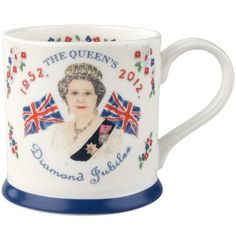 Take your tea the British way and celebrate the Queen's Diamond Jubilee with this specially designed patriotic mug. Team with our other Jubilee kitchen products for a truly celebratory feel.