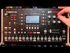 Using the Elektron Octatrack to live-sample, and immediately mangle, a guitar part without using a midi foot controller to control everything.