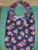 Michele Bilyeu Creates *With Heart and Hands*: Making an Adult Bib Baby Bibs Patterns, Sewing Patterns, Apron Patterns, Clothing Patterns, Bandana Bib Pattern, Collar Pattern, Baby Bib Tutorial, Diy Adult, Adult Bibs