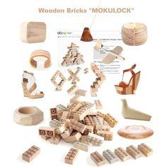 """Wooden Bricks ""MOKULOCK"""" by fukutomi on Polyvore"