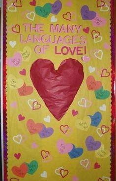 """The Many Languages of Love"" – Valentine's Door Display"