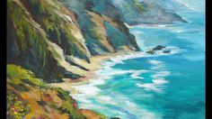 Ocean Vista a How to Paint Water with Acrylic Paints with Ginger Cook for Beginners - YouTube