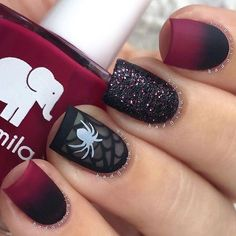 Matte spider mani by @BadGirlNails by nailss