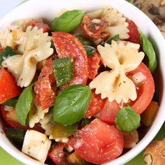 FLAIGELLA: salada de macarrão com legumes - receita pontuada