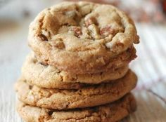 Soft and chewy brown sugar cookies with cinnamon chips! I will leave out the cinnamon and add pecans instead of cinnamon chips. Cookies Cupcake, Cupcakes, Cookie Desserts, Yummy Cookies, Chip Cookies, Just Desserts, Cookie Recipes, Dessert Recipes, Cookies Soft