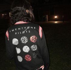 Wish we could turn back time // Twenty One Pilots Logo Girls Varsity Jacket
