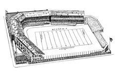 St Louis Rams (Formerly Cleveland Rams & Los Angeles Rams) - Shaw Stadium - Capacity: 10,000 - 1938