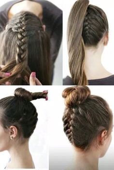 Hair Tutorials to Style Your Hair hair tutorials for medium hair. Could probably work with long hairhair tutorials for medium hair. Could probably work with long hair Medium Hair Styles, Curly Hair Styles, Natural Hair Styles, Braids For Medium Hair, Hair Tutorials For Medium Hair, Hair Medium, Pretty Hairstyles, Girl Hairstyles, Simple Hairstyles