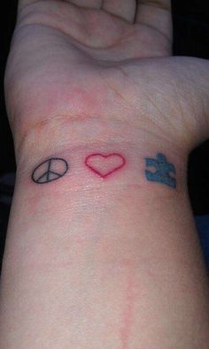 Simple autism awareness tattoo.