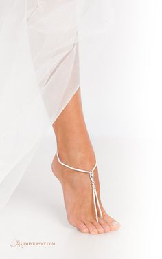 Black Beaded Barefoot sandals-Bridesmaid jewelry-Beach by barmine