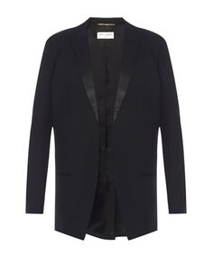 SAINT LAURENT SAINT LAURENT WOMEN'S  BLACK WOOL BLAZER. #saintlaurent #cloth #