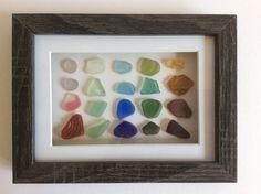 Sea glass art Scottish seaglass colours by ThreeLittlePirates