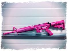 AR-15 Pink Duracoat Pink Guns, Lethal Weapon, Target Practice, Stress Reliever, Hunting Gear, Gun Control, Kydex, Pink Camo, Pink Love