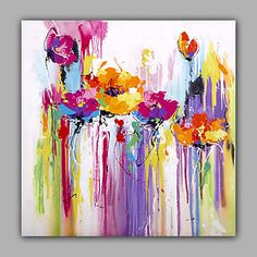 Abstract Floral Buds Oil Painting Design Manfactured by Chinese Artist 4803878 2017 – $80.75